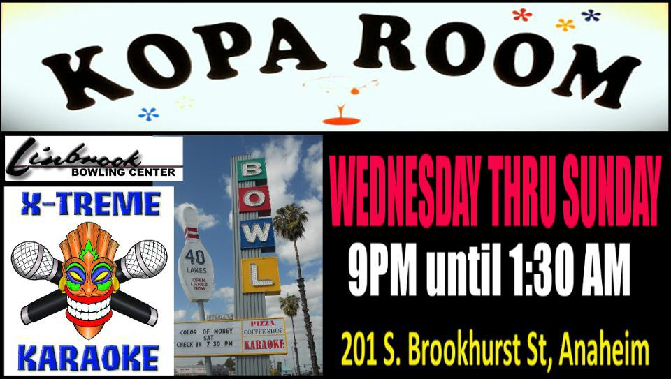 Kopa Room in the Linbrook Bowling Center Anaheim California